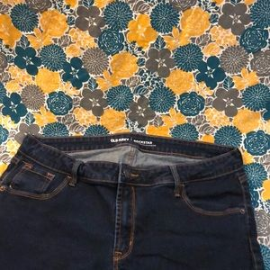 Dark wash rockstar jeans